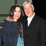 Con David Lynch en Cena de despedida Circulo Bellas Artes. Madrid  de